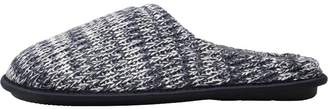 Mad Wax Mens Knitted Mule Slippers Navy/White