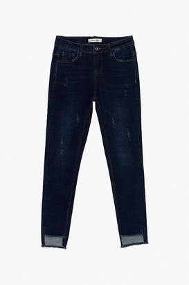 Genuine People Distressed Cotton Stretch Jeans