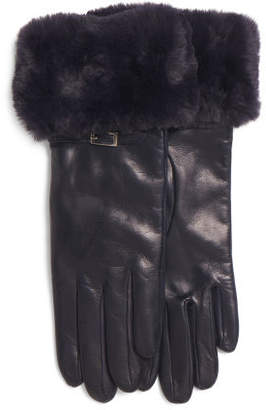 Made In Italy Leather Buckle Gloves