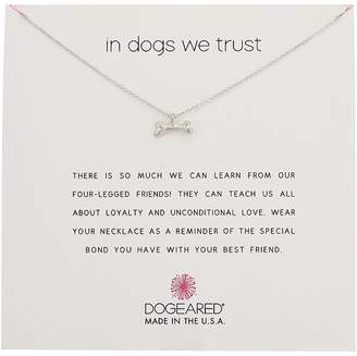 Dogeared In Dogs We Trust, Dog Bone Necklace Necklace