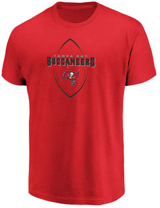 Authentic Nfl Apparel Men's Tampa Bay Buccaneers Maximized T-Shirt