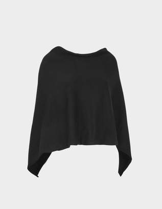 Eric Bompard Poncho Scarf in Black Cashmere