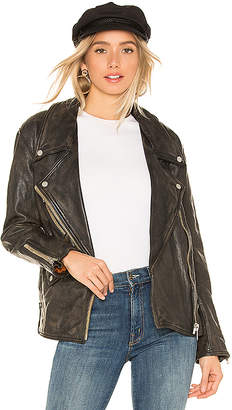 Free People Jealousy Leather Moto Jacket