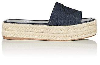 Prada Women's Denim Espadrille Slide Sandals - Bleu 1