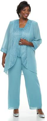 Plus Size Maya Brooke Tank, Pants & Jacket Set