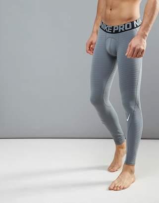 Nike Training Pro Warm Compression Tights In Grey 725039-065