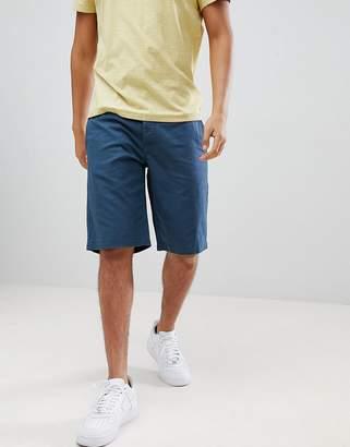 Benetton Linen Shorts In Navy