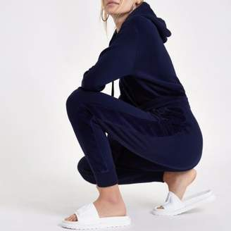 River Island Womens Navy loose fit joggers
