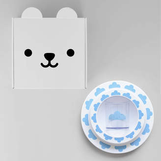 Buddy and Bear Happy Cloud Plate, Cup And Bowl Gift Set Blue
