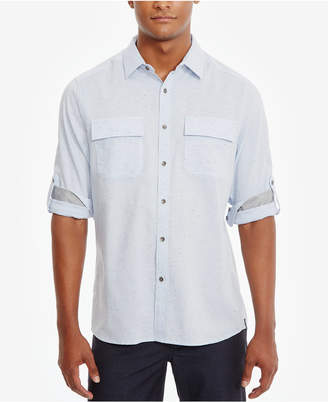 Kenneth Cole New York Men's Two-Pocket Cotton Shirt $79 thestylecure.com