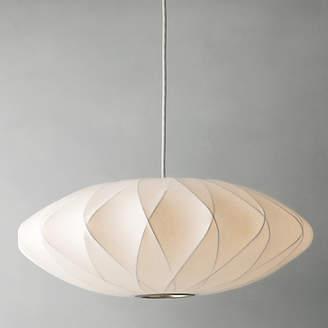 George Nelson Bubble Crisscross Saucer Ceiling Light, Medium