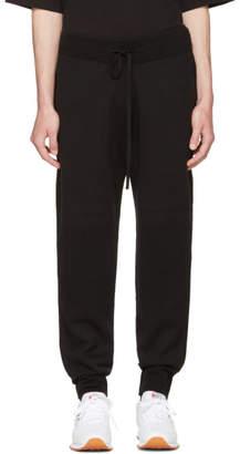 Helmut Lang Black Ottoman Jogger Pants