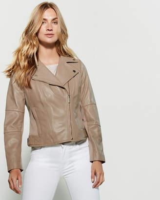 MICHAEL Michael Kors Mix Media Moto Jacket