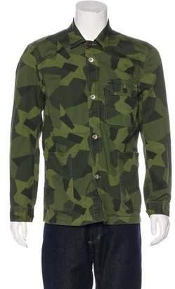 Jack Spade Printed Button-Up Jacket