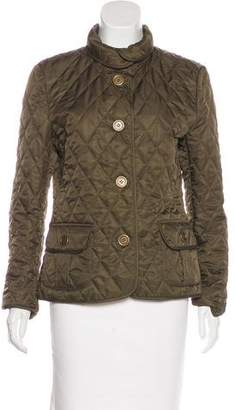 Burberry House Check-Lined Quilted Jacket