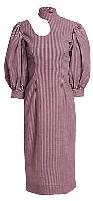 Ganni Women's Stretchable Seersucker Dress