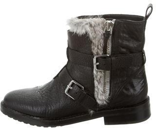 Rebecca MinkoffRebecca Minkoff Fur-Trimmed Moto Ankle Boots