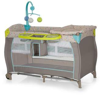 Hauck Babycenter Travel Cot - Multi Dots Sand