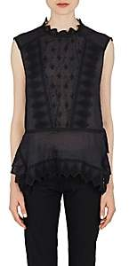 Isabel Marant Women's Nust Embroidered Voile Top - Black