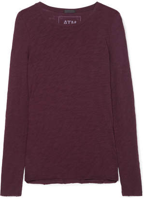 ATM Anthony Thomas Melillo Slub Cotton-jersey Top - Burgundy