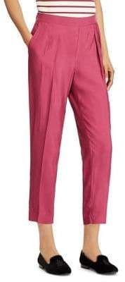 Lauren Ralph Lauren Pleat Front Cropped Pants