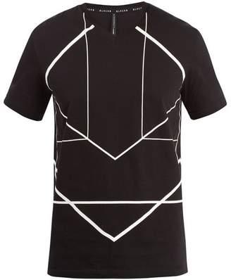 Blackbarrett By Neil Barrett - Graphic Print Cotton T Shirt - Mens - Black White