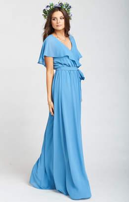 Show Me Your Mumu Audrey Maxi Dress ~ Coastal Blue Chiffon