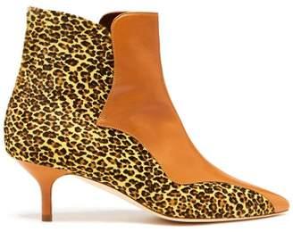 Malone Souliers By Roy Luwolt - Jordan Leopard Print Calf Hair Boots - Womens - Leopard