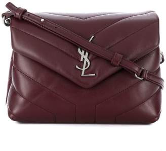 Saint Laurent front logo clutch bag