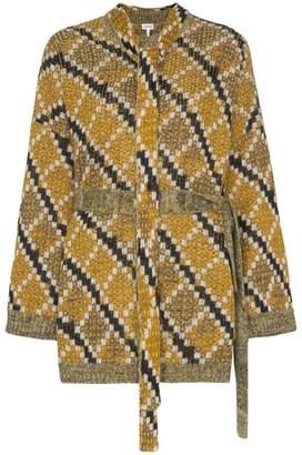 Loewe jacquard belted mohair wool jumper