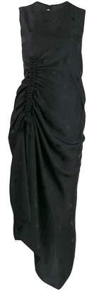 McQ ruched bird print dress