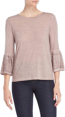 Dantelle Lace Bell Sleeve Top