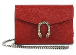 Gucci Gucci Dionysus Mini Leather Chain Wallet