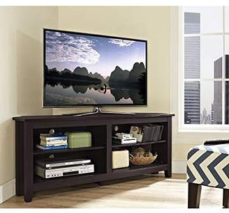 "WE Furniture 58"" Wood Corner TV Stand Console"