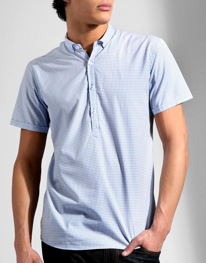 Modern Amusement Popover Check Shirt