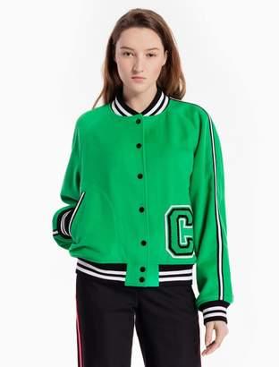Calvin Klein wool woven striped c-badge jacket
