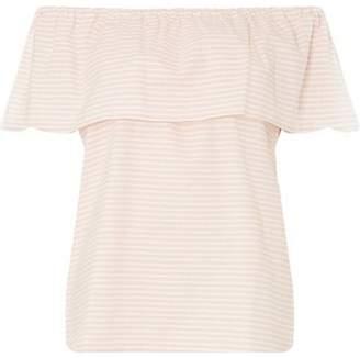 Dorothy Perkins Womens **Vila Pink Stripe Frill Top