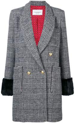 Couture Forte Dei Marmi fur trim Glen check coat