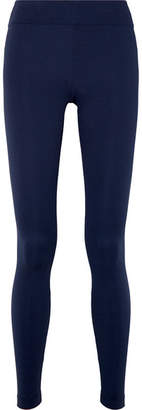 Koral Drive Serpentine Stretch Jacquard-knit Leggings - Blue