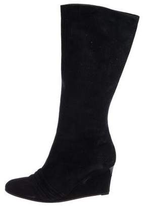 Stephane Kelian Suede Mid-Calf Boots