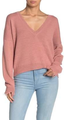 Nation Ltd. Bijou V-Neck Boxy Cocoon Sweater