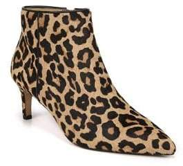 Franco Sarto Devon Leopard Print Calf Hair Booties
