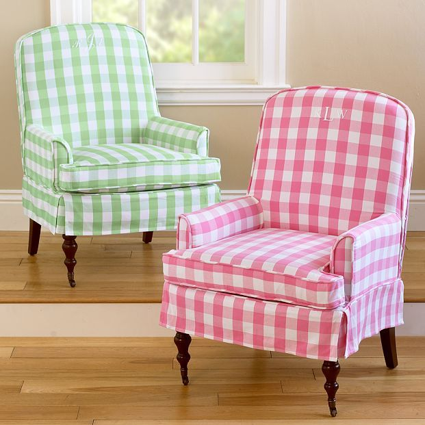 Gingham Reese Chair Slipcover
