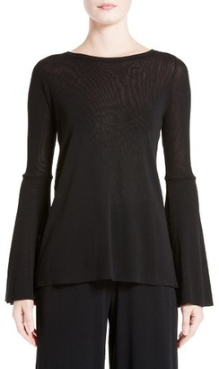 Women's Fuzzi Bell Sleeve Mesh Top $295 thestylecure.com