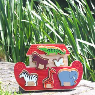 Lanka Kade Noah's Ark Tray Shape Sorter Puzzle Playset