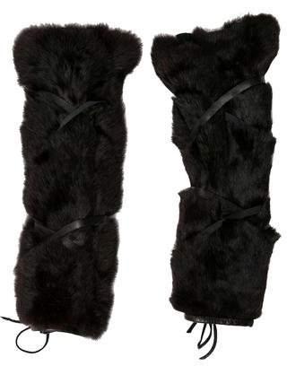 Fur-Trimmed Leg Warmers