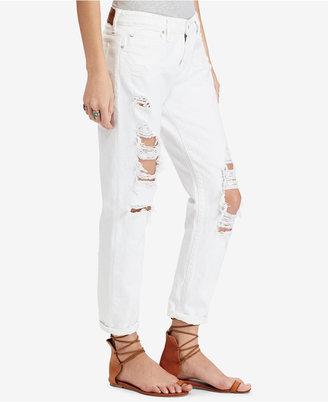 Denim & Supply Ralph Lauren Cotton Skinny Boyfriend Jeans $125 thestylecure.com