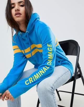 Criminal Damage Stripe Hoodie