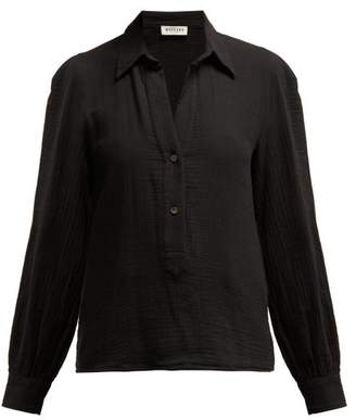 Masscob Luana Textured Cotton Shirt - Womens - Black