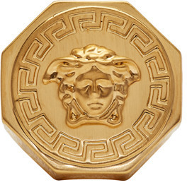 Versace Gold Medusa Ring $295 thestylecure.com